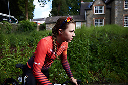 Lisa Klein (GER) makes her way to sign on for Stage 6 of 2019 OVO Women's Tour, a 125.9 km road race from Carmarthen to Pembrey, United Kingdom on June 15, 2019. Photo by Sean Robinson/velofocus.com