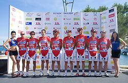 Acqua Sapone-Caffe Mocambo at 1st stage of Tour de Slovenie 2009 from Koper (SLO) to Villach (AUT),  229 km, on June 18 2009, in Koper, Slovenia. (Photo by Vid Ponikvar / Sportida)
