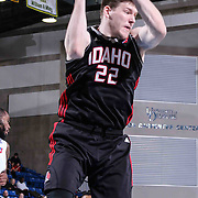 Idaho Stampede Forward Jack Cooley (22) pulls down a rebound under the basket in the second half of a NBA D-league regular season basketball game between the Delaware 87ers and the Idaho Stampede (Utah Jazz) Tuesday, Feb. 03, 2015 at The Bob Carpenter Sports Convocation Center in Newark, DEL