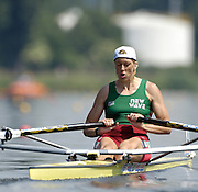 Poznan, POLAND.  2006, FISA, Rowing World cup, BLR, W1X, Ekaterina  KARSTEN, moves away from the start pontoon at the   'Malta Regatta course;  Poznan POLAND, Fri. 16.06.2006. © Peter Spurrier   ....[Mandatory Credit Peter Spurrier/ Intersport Images] Rowing Course:Malta Rowing Course, Poznan, POLAND