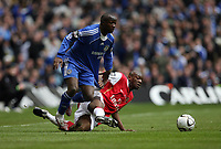 Photo: Rich Eaton.<br /> <br /> Chelsea v Arsenal. Carling Cup Final. 25/02/2007.Lassana Diarra left of Chelsea evades Arsenals Kolo Toure