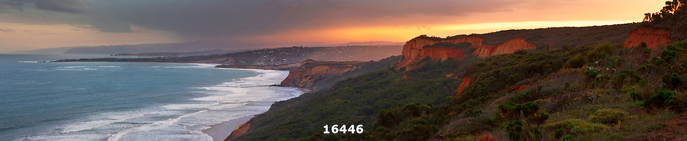 Anglesea cliffs at sunset