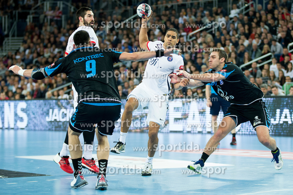 Daniel Narcisse #25 of Paris Sant-Germain during handball match between PPD Zagreb (CRO) and Paris Saint-Germain (FRA) in 11th Round of Group Phase of EHF Champions League 2015/16, on February 10, 2016 in Arena Zagreb, Zagreb, Croatia. Photo by Urban Urbanc / Sportida