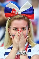 2016.06.20 Saint-Etienne<br /> Pilka nozna Euro 2016<br /> mecz grupy C Slowacja - Anglia<br /> N/z kibice doping atmosfera dziewczyna widok ilustracja<br /> Foto Lukasz Laskowski / PressFocus<br /> <br /> 2016.06.20 Saint-Etienne<br /> Football UEFA Euro 2016 group C game between Slovaki and England<br /> kibice doping atmosfera dziewczyna widok ilustracja<br /> Credit: Lukasz Laskowski / PressFocus