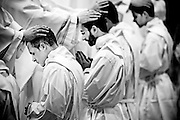 Vatican City apr 26th 2015, mass at St Peter's Basilica with the ordination rite. In the picture older priests lay their hands on young ones  - © PIERPAOLO SCAVUZZO