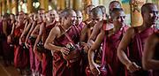 Buddhist Monks at Kha Khat Wain Kyaung Monastery (Bago, Myanmar)