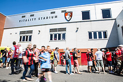AFC Bournemouth fans arrive - Mandatory by-line: Jason Brown/JMP - Mobile 07966 386802 08/08/2015 - FOOTBALL - Bournemouth, Vitality Stadium - AFC Bournemouth v Aston Villa - Barclays Premier League - Season opener