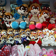 Cuddly toys for sale at Lotte World. Lotte World is the world's largest indoor theme park which includes shopping malls, a luxury hotel, and an Ice rink. Opened on July 12, 1989, Lotte World receives over 8 million visitors each year. Seoul, South Korea. 21st March 2012. Photo Tim Clayton