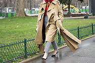 Trench Coat on Natasha Goldenberg, Outside Margiela FW2017