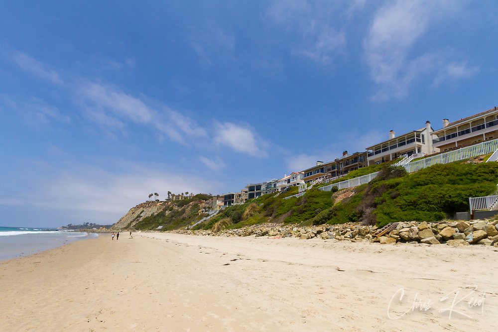 USA, California, Dana Point.  Homes with a view of the Pacific Ocean off the coast of California.