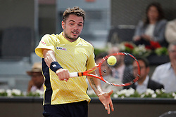 06.05.2014, Caja Magica, Madrid, ESP, ATP Tour, Madrid Open, im Bild Sweden tennis player Stanislas Wawrinka // Sweden tennis player Stanislas Wawrinka during the Madrid Open of ATP World Tour at the Caja Magica in Madrid, Spain on 2014/05/06. EXPA Pictures © 2014, PhotoCredit: EXPA/ Alterphotos/ Victor Blanco<br /> <br /> *****ATTENTION - OUT of ESP, SUI*****