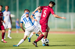 Jaka Bizjak of NS Drava vs Rok Elsner of Triglav  during 2nd Leg football match between NK Triglav Kranj and NS Drava Ptuj in Qualifications of Prva Liga Telekom Slovenije 2018/19, on June 6, 2018 in Kranj, Slovenia. Photo by Vid Ponikvar / Sportida