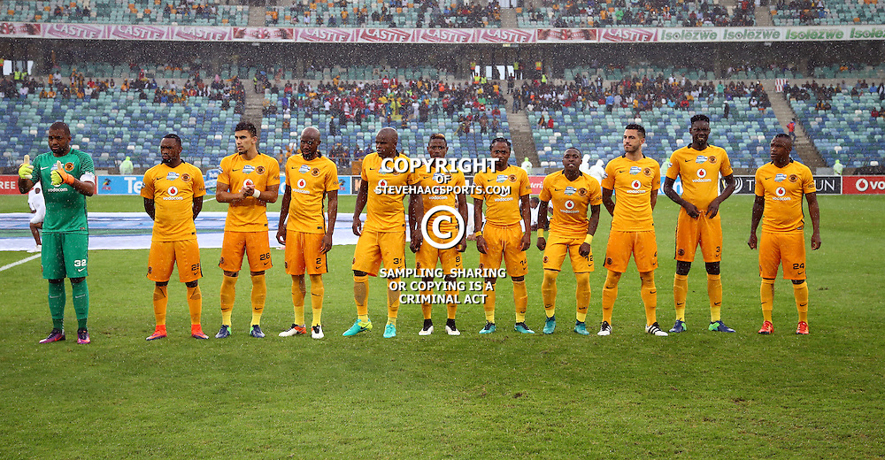Kaizer Chiefs players during the Telkom Knockout quarterfinal  match between Kaizer Chiefs and Free State Stars at the Moses Mabhida Stadium , Durban, South Africa.6 November 2016 - (Photo by Steve Haag Kaizer Chiefs)