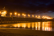 The Huntington Beach Pier At Night, Orange County, California