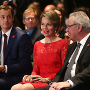 20160616 - Brussels , Belgium - 2016 June 16th - European Development Days - Special address from Her Majesty Mathilde the Queen of Belgians - HM Mathilde, the Queen of Belgians and  Neven Mimica © European Union