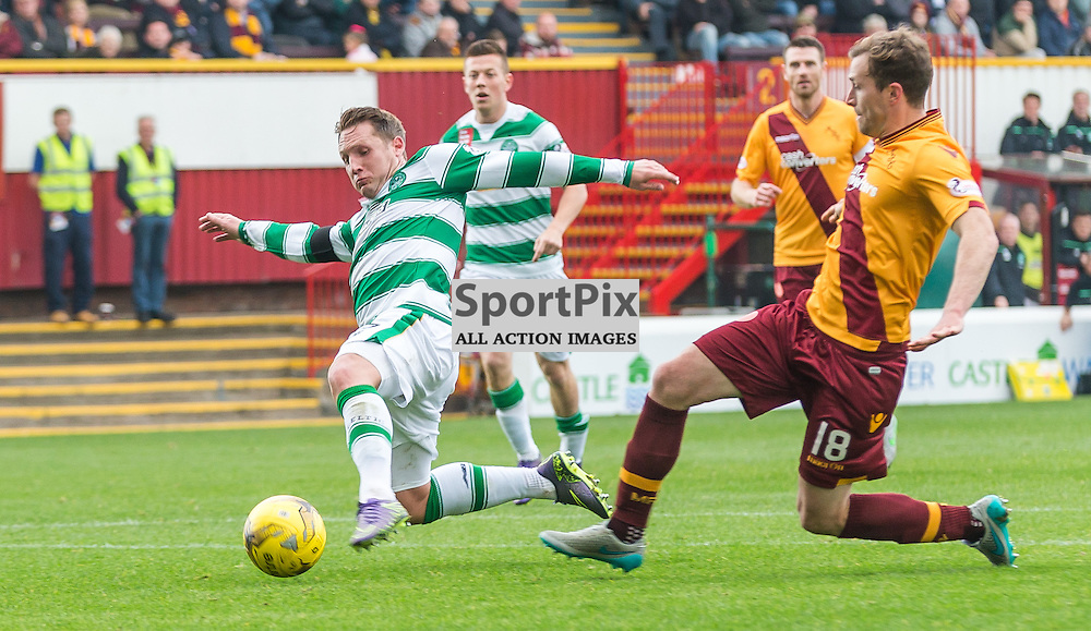 Kris Commons in action during the Scottish Premiership match between Motherwell and Celtic (c) ROSS EAGLESHAM | Sportpix.co.uk