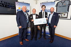The Royal Marines Charity receives their cheque - Ryan Hiscott/JMP - 06/08/2018 - RUGBY - Sandy Park - Exeter, England - Exeter Chiefs Season Launch Dinner