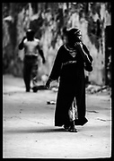 Woman Walking, Island of Lamu, Kenya, July, 2002