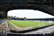 Gigg lane, empty but dry, before  the The FA Cup third round match between Bury and Bradford City at Gigg Lane, Bury, England on 9 January 2016. Photo by Mark Pollitt.
