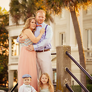 Images from a family portrait shoot with the Austin family in downtown Charleston, South Carolina at Waterfront Park.