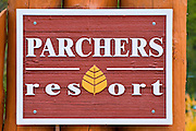 Parchers Resort on the south fork of Bishop Creek, Inyo National Forest, Sierra Nevada Mountains, California