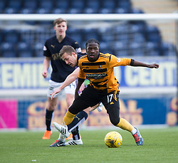 Falkirk's Will Vaulks and Alloa Athletic's Isaac Layne. <br /> Falkirk 2 v 0 Alloa Athletic, Scottish Championship game played 5/3/2016 at The Falkirk Stadium.