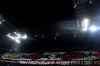 Milan fans coreography prior to the Serie A 2018/2019 football match between Fc Internazionale and AC Milan at Giuseppe Meazza stadium Allianz Stadium, Milano, October, 21, 2018 <br />  Foto Andrea Staccioli / Insidefoto