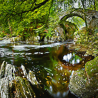 COMMENDED - Landscape photographer of the year<br /> <br /> Old stone bridge over the river Braan, the Hermitage, Dunkeld, Perthshire.