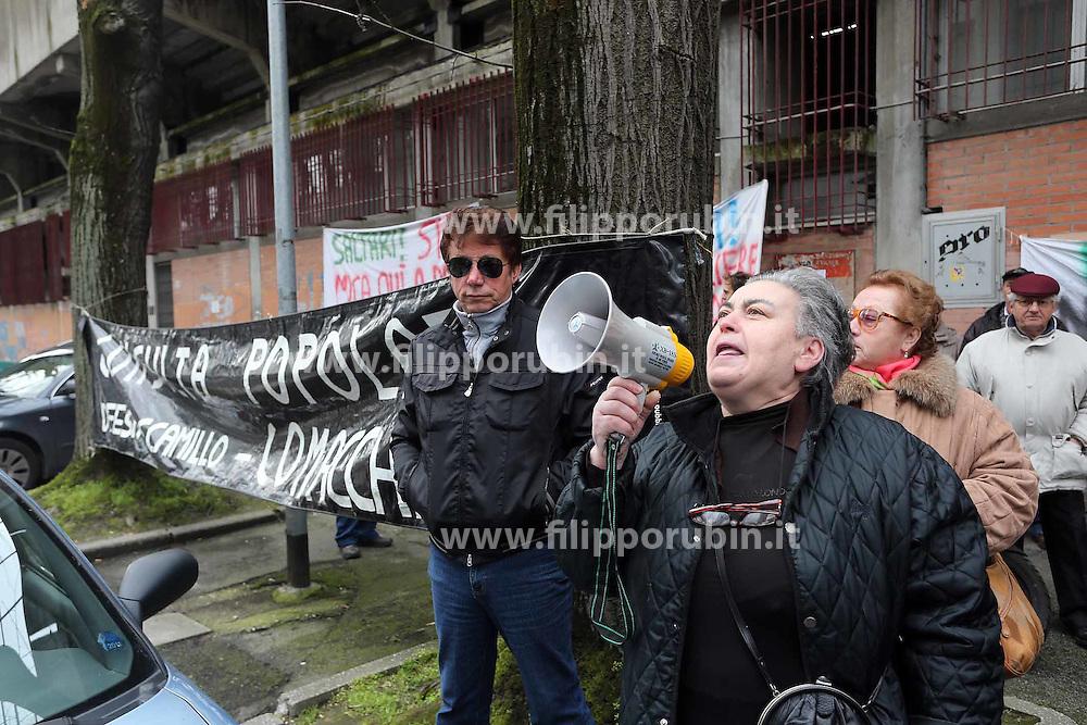 PROTESTA PER L'OSPEDALE DI COMACCHIO DI FRONTE ALL'ASL IN VIA CASSOLI