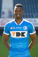 Gent's Kalifa Coulibaly the 2015-2016 season photo shoot of Belgian first league soccer team KAA Gent, Saturday 11 July 2015 in Gent.