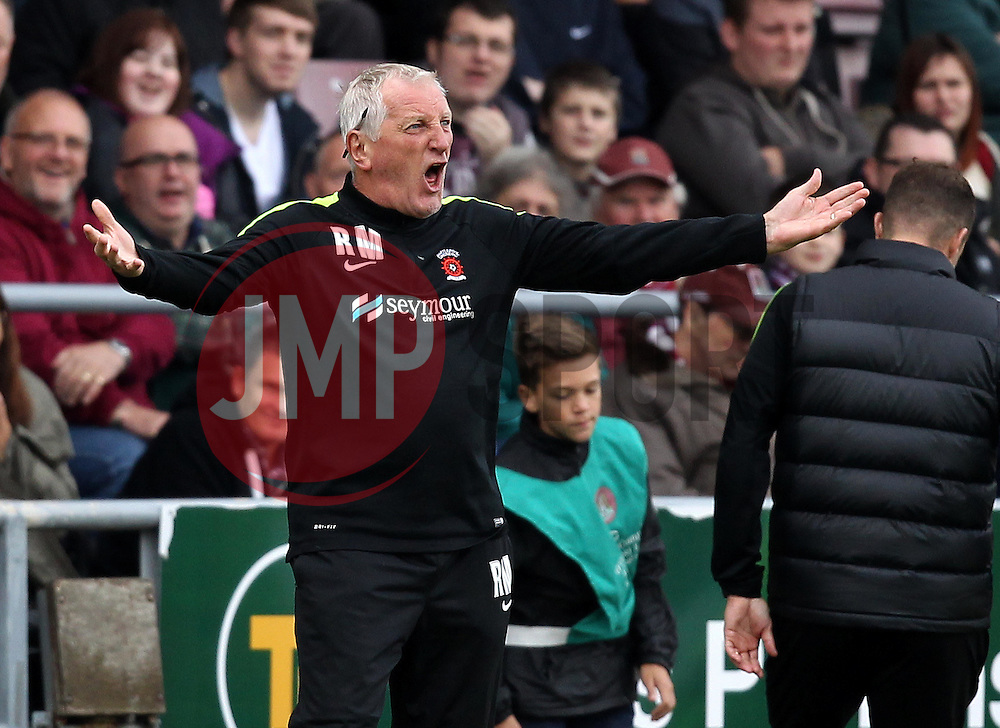 Hartlepool United Manager Ronnie Moore - Mandatory byline: Robbie Stephenson/JMP - 07966 386802 - 10/10/2015 - FOOTBALL - Sixfields Stadium - Northampton, England - Northampton Town v Hartlepool - Sky Bet League Two
