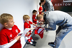 Daniel Bentley as Mascots meet the players - Rogan/JMP - 30/11/2019 - Ashton Gate Stadium - Bristol, England - Bristol City v Huddersfield Town - Sky Bet Championship.