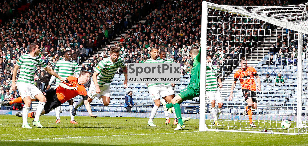 Dundee United v Celtic Scottish Cup Semi Final..Gary MacKay-Steven scores Dundee United's second goal.....(c) STEPHEN LAWSON | StockPix.eu