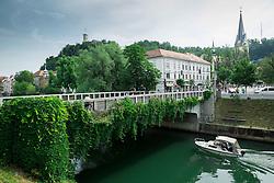Karlovski most and river Ljubljanica on June 14, 2015 in Ljubljana, Slovenia. Photo by Vid Ponikvar / Sportida