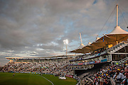Hampshire pavilion and the Colin Ingleby-McKenzie stand  during the NatWest T20 Blast South Group match between Hampshire County Cricket Club and Somerset County Cricket Club at the Ageas Bowl, Southampton, United Kingdom on 29 July 2016. Photo by David Vokes.