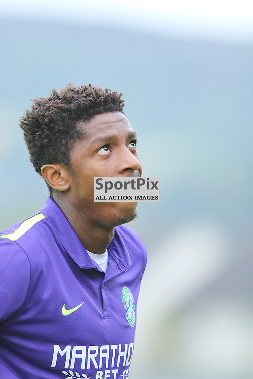 Malonga looks to the sky for help as Hibs go down 2-1<br /> <br /> <br /> <br /> <br /> <br /> (c) Andy Scott | SportPix.org.uk
