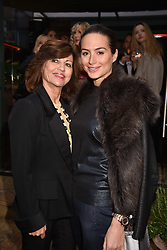 Left to right, Pilar Boxford and her daughter Saskia Winbergh at The Ivy Chelsea Garden's Annual Summer Garden Party, The Ivy Chelsea Garden, 197 King's Road, London England. 9 May 2017.<br /> Photo by Dominic O'Neill/SilverHub 0203 174 1069 sales@silverhubmedia.com