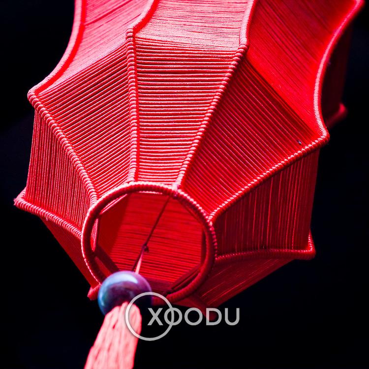 Traditional Chinese-Vietnamese red silk lantern (Hoi An, Vietnam - Nov. 2008) (Image ID: 081108-1542251a)