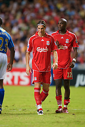 Hong Kong, China - Friday, July 27, 2007: Liverpool's Fernando Torres and Momo Sissoko during the final of the Barclays Asia Trophy at the Hong Kong Stadium. (Photo by David Rawcliffe/Propaganda)