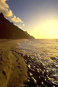 Kalalau Beach, Napali Coast, Kauai, Hawaii, USA<br />