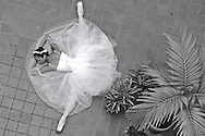 MR. Model relased photo. Ballerina sleeps on the floor with the split position.