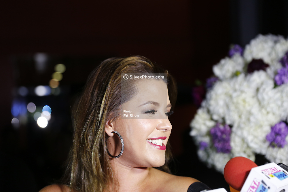 LOS ANGELES, CA - JUNE 27: Former Miss Universe Alicia Machado attends Chiquis Rivera birthday party at Don Chente Bar and Grill on Tuesday June 27, 2017, in downtown Los Angeles, California. Byline, credit, TV usage, web usage or linkback must read SILVEXPHOTO.COM. Failure to byline correctly will incur double the agreed fee. Tel: +1 714 504 6870.