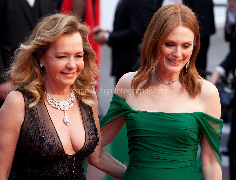 Caroline Scheufele and Actress Julianne Moore at the Opening Ceremony and The Dead Don't Die gala screening at the 72nd Cannes Film Festival Tuesday 14th May 2019, Cannes, France. Photo credit: Doreen Kennedy