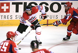Jason Spezza (91) of Canada vs Dmitri Kalinin (7) of Russia at  ice-hockey game Canada vs Russia at finals of IIHF WC 2008 in Quebec City,  on May 18, 2008, in Colisee Pepsi, Quebec City, Quebec, Canada. Win of Russia 5:4 and Russians are now World Champions 2008. (Photo by Vid Ponikvar / Sportal Images)