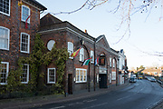 "Henley, Oxfordshire. England General View; ""The Red Lion"" the old Coaching house attached to the main Hotel Building, Thursday  01/12/2016<br /> © Peter SPURRIER<br /> LEICA CAMERA AG  LEICA Q (Typ 116)  f1.7  1/1000sec  35mm  8.3MB"