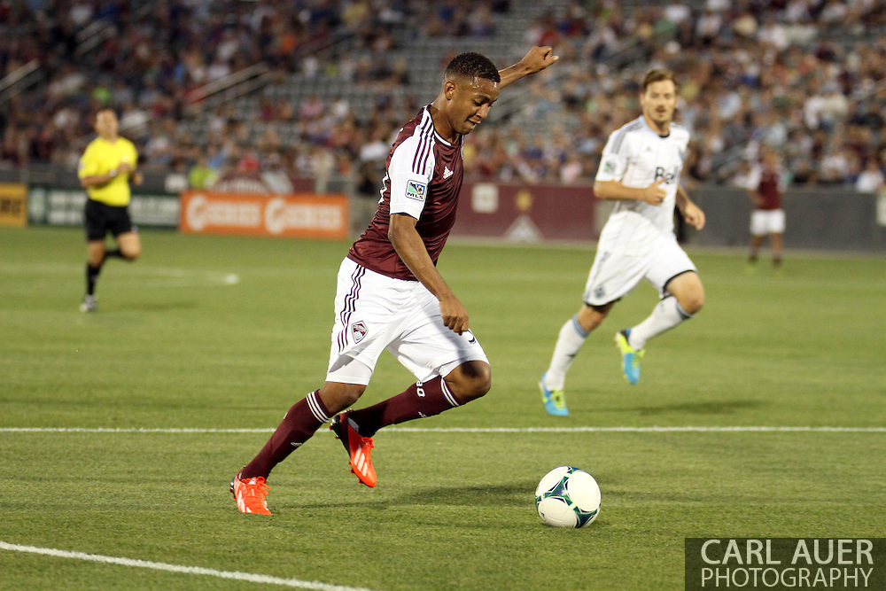 August 17th, 2013 - Colorado Rapids forward Gabriel Torres (30) sets himself up for a shot attempt in the first half of action in the Major League Soccer match between the Vancouver Whitecaps FC and the Colorado Rapids at Dick's Sporting Goods Park in Commerce City, CO