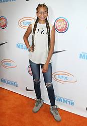Michael B. Jordan and Lupus LA's 2nd Annual MBJAM18 at Dave & Busters in Hollywood, California on 7/28/18. 28 Jul 2018 Pictured: Storm Reid. Photo credit: River / MEGA TheMegaAgency.com +1 888 505 6342