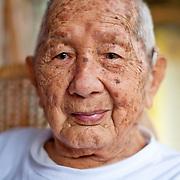 100+ year old tailor at shop, 177 YongAn Road, Meinong Township, Kaohsiung County, Taiwan