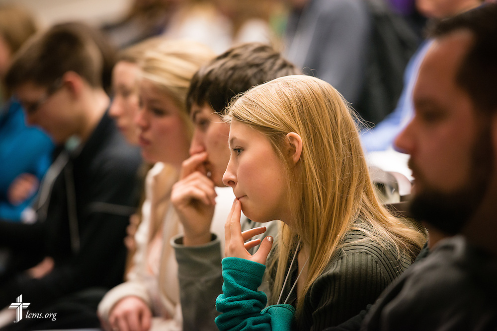 Participants listen to a speaker at the 2015 LCMS Life Conference Friday, Jan. 23, 2015, at the Hilton in Crystal City, Va. LCMS Communications/Erik M. Lunsford