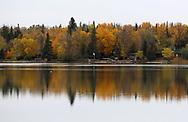 An 11 image panorama of Gull Lake, Tuesday, October 3, 2017. (Trevor Hagan)